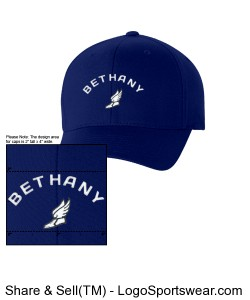 Bethany Low Profile Twill Flex Fit Cap Design Zoom